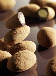 Pralino chocolat poudré - Le pralino™ chocolat noir poudré est un bonbon au chocolat riche en saveurs délicates, tendres et croquantes.  Cette confiserie est constituée d'une amande de Provence enrobée d'une fine couche de nougatine parfumée à la vanille Bourbon et aux herbes de Provence, puis d'une couche de chocolat noir et enfin saupoudrée de cacao.  Découvrez une douceur plébiscitée dans la tradition de la confiserie française et pour laquelle Francois Doucet a œuvré avec passion.