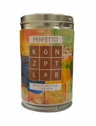 KōNZPTLª.B PERFETTO 250g - Premium quality roasted coffee beans. Blend of selected raw materials. Handcrafted product made through traditional air-cooled drum roasting process, followed by a refined degassing phase. We launch this product in September 2021.