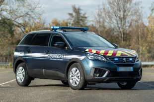 Frech Police car with Cleargard windows - <p>-</p>