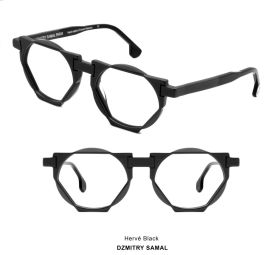 Hervé - Combination of geometric shapes (triangle, rectangle and oval)  all in curves, soft angles and bevels. Ultra light.