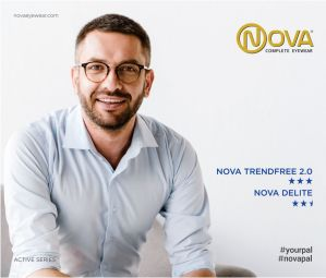 Nova Active Series - Nova Active Series offers two categories of progressive lenses, namely Nova Trendfree 2.0 and Nova Delite.   Nova Trendfree 2.0 powered with Digicontour technology is a perfect choice for value progressive lens wearers. It is a soft design digital progressive lens which comes with wide distance, intermediate and reading zones, reduced distortion in the periphery and easy adaptation.  Nova Delite is designed for leading an active lifestyle at the age of 40+. Powered with Digi-Contour technology, these corrective lenses accommodate the exact prescription of the wearers,providing optimal visual comfort and clarity. It offers contrast rich image with up to 30% wider fields of vision compared to conventional progressive lenses, providing remarkably clear image with insignificant distortions in the peripheral areas due to less astigmatism. Back surface Aspheric design incorporated in the Nova Delite lens design-algorithm eliminates spherical aberrations to a great extent, thus reducing image deformations & undue blur in the peripheral areas of the lens.