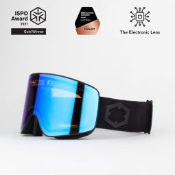 Electra - Electra is an electronic lens that adjusts its tint to the ambient light in less than 1 second, completely automatically and without using any battery.   What does it actually do?  Let's say you are skiing downhill and it's a sunny day. Then, you suddenly enter a shaded area. A normal lens would simply stay the same, but Electra detects the light change and adjusts its tint accordingly in less than a second, allowing you to see perfectly right from the first meters.  Then the shaded area ends and you find yourself in the sun again: no problem. Electra detects it and adjusts its tint almost instantly.   Electra is composed by a small solar cell that powers a proprietary chip and a special LC film. The chip works constantly to detect the ambient light and adjust the LC's brightness accordingly. Electra can adopt any tint from 18% to 42% of transmittance, always providing the perfect light filter.  Thanks to the lack of battery the whole mechanism is extremely light so the goggles weight only 5 grams more than regular ones. Plus, they never, ever, need to be charged. Electra has been elected by ISPO as best product in its category (sunglasses/ ski goggles) for the year 2021, and it was selected within the Amazon Innovation Awards as one of the 15 most innovative products in Europe.