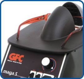Ventilette - Chaufferette MAGA - VE 101 - MAGA Appareil puissant muni d'une grande plateforme permettant de travailler facilement et sans risque des 2 côtés. Equipé d'un régulateur de température et de commande : air chaud/froid,