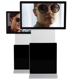 Smart Media - Smart Media propose l'affichage dynamique personnalisé en vitrine ou en magasin. Grâce à la reconnaissance faciale, le client peut essayer et comparer virtuellement les montures qui lui sont adaptées.
