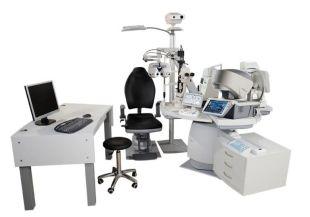 Unité de consultation 4 instruments – Combi 7000 – Visionix - Unité de consultation automatique tournante pour 4 instruments, entièrement automatique avec rotation automatique de la table et translation automatique des plateaux.