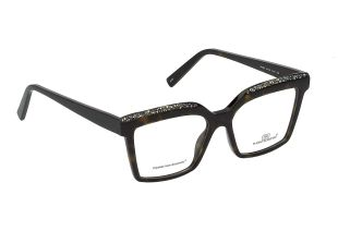 Model DM830 - Woman acetate frame embellished with precious crystals on the upper side of the front, handmade in Italy.