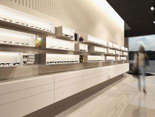 KUBO présentoir mural - Système d'affichage modulaire pour murs. Kubo se compose d'un panneau mural et de plusieurs boîtes d'affichage. Les boîtes ont des caractéristiques magnétiques et sont disponibles en différentes tailles. Un éclairage LED blanc est intégré dans les boîtes. Des accessoires supplémentaires tels que des supports de monture, des miroirs et des éléments publicitaires sont disponibles à l'achat.