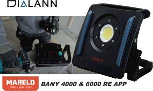 WORK LIGHT BANY MARELD 4000/6000 RE - <p>Rechargeable et robuste. Fonctionne sur secteur, ou avec batterie MARELD mais aussi DEWALT/MILWAUKEE,/MAKITA/METABO ou BOSCH 18V ! Application pour contrôler la lampe via smartphone.</p>