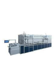 Short-cycle Lamination System - A new generation of presses for card and ID card production The Lauffer press type SLS is designed for laminating plastic cards made of PC, PVC, PET, TPU, etc. and technical laminates. This press system meets the latest requirements regarding economy, ecology, product and process quality. Due to the independent and stepless adjustment of the relevant process parameters such as temperature, pressure and cycle times, the system is excellently suited for large-scale production, production trials and also for product/process development - this allows us to guarantee full process control for every single sheet.