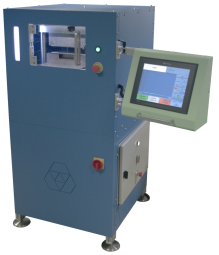 BGi167 - A4 R&D laminator - BG INGENIERIE has developed 2 A4 laminator, dedicated to your R&D and pre-production teams.  Managed throught a PLC automate, you will be able to simulate real lamination process on a smaller scale.  2 models with 9cm or 29cm apertur for your requirements in plastic cards and inlays, PCB, composite material, solar panels...