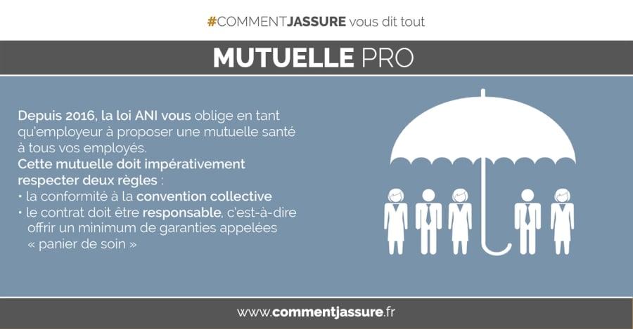 Infographie Assurance mutuelle complémentaire santé d'entreprise obligatoire