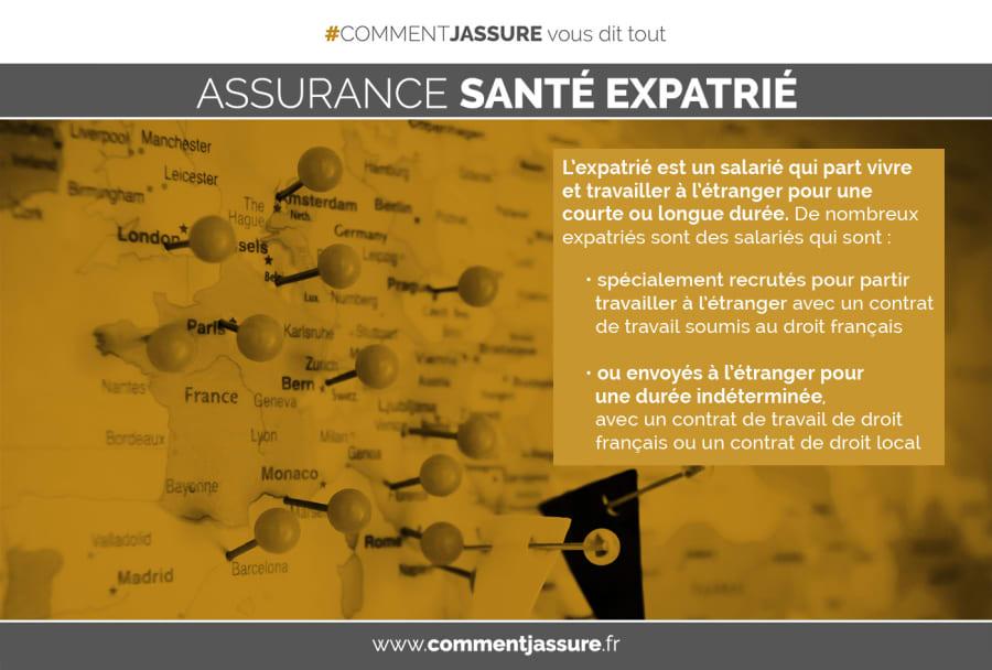 Infographie assurance santé expatrié : être expatrié