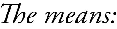 The Means logo