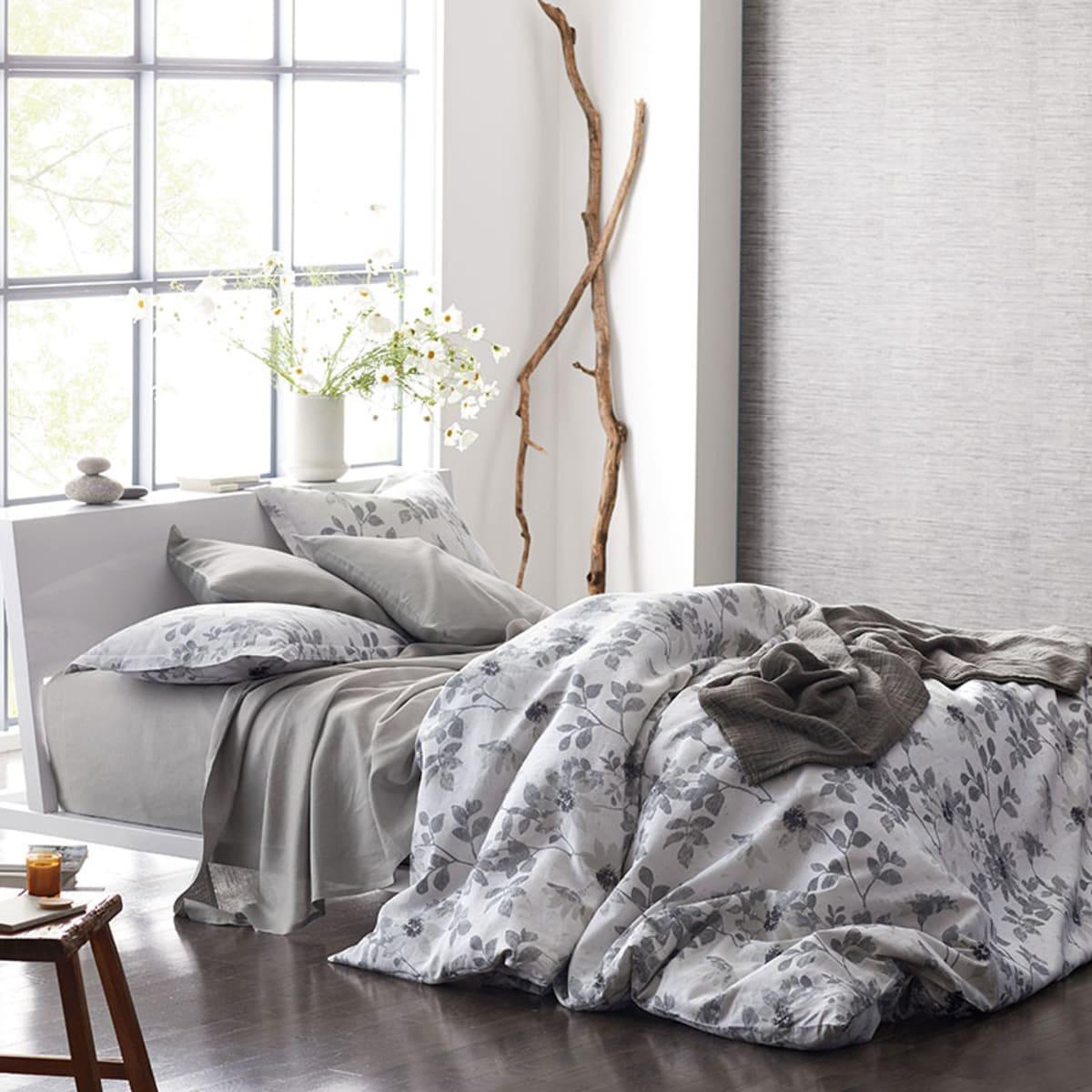 Patio Floral European Linen Duvet Cover Sham
