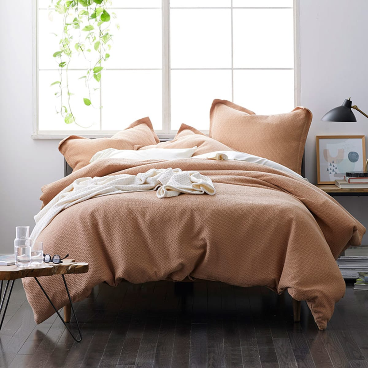 Leaves Organic Cotton Percale Duvet Cover