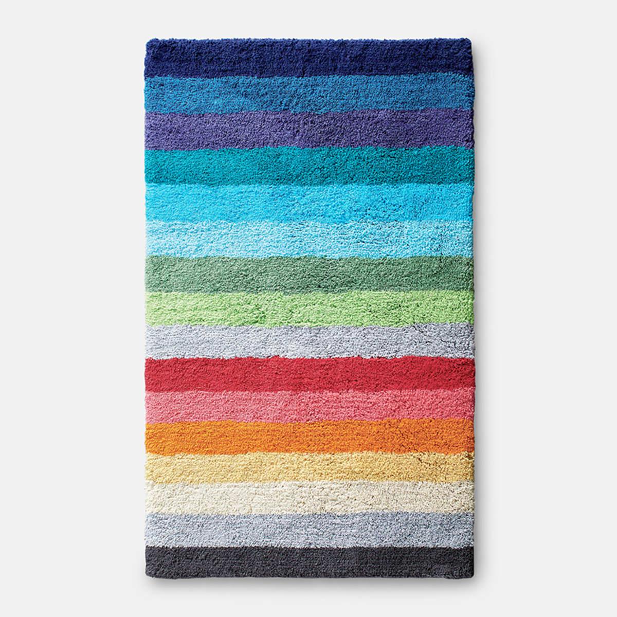 Color Bar Striped Cotton Bath Rug The Company Store