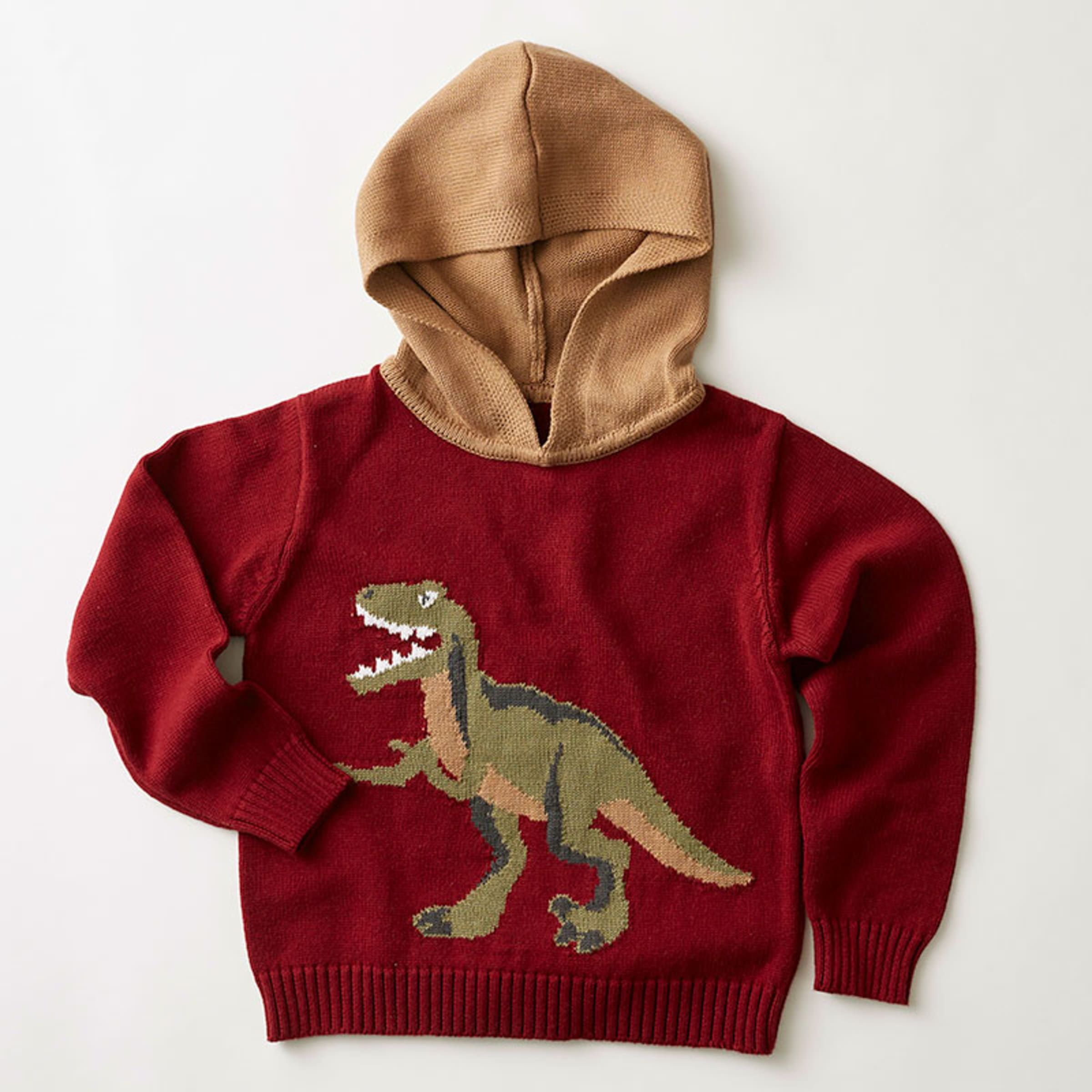 BNWT Unisex Kids Kukukid Black Dino Hoodie Jumper Pullover Sweatshirt