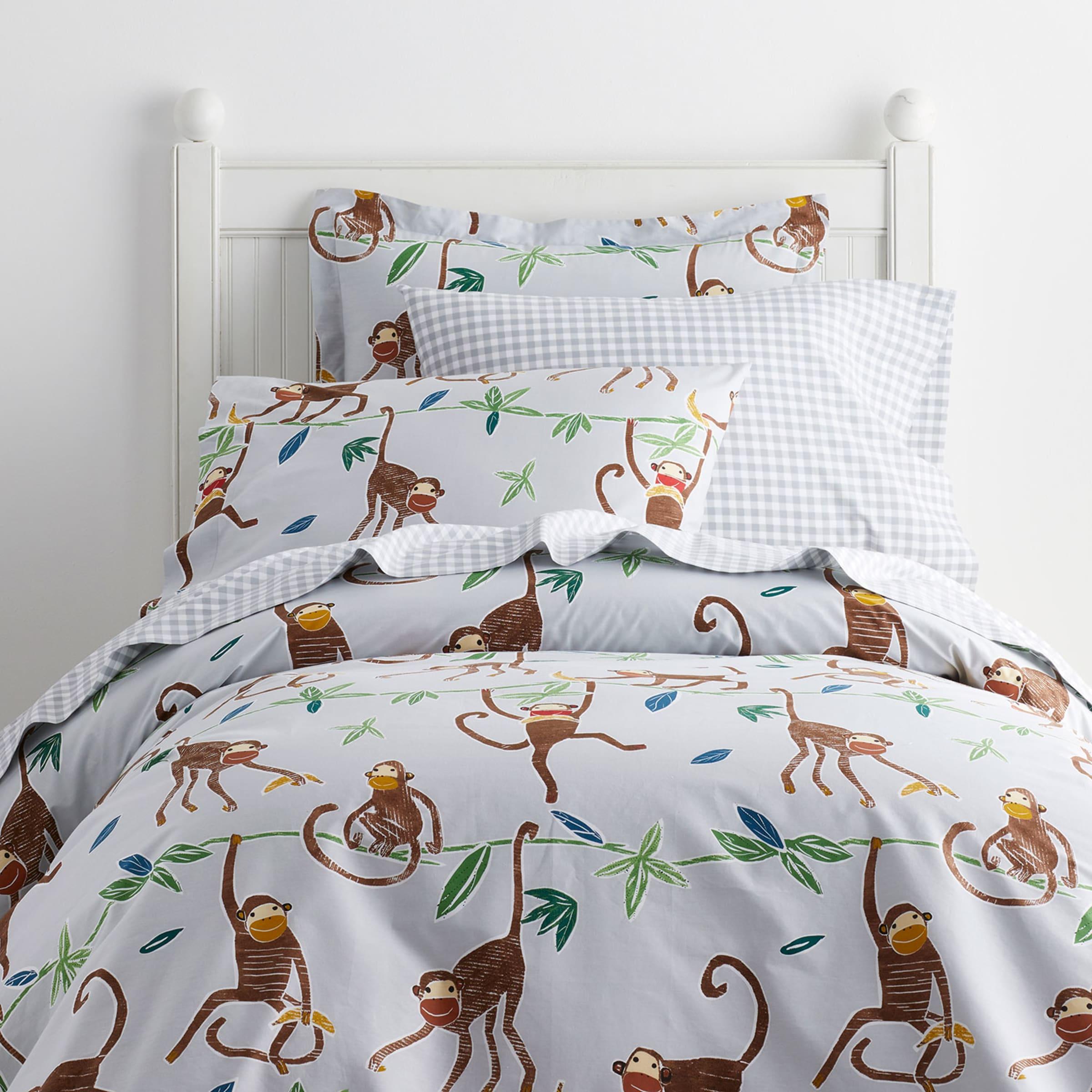 Monkey Business Print Kids Duvet Cover