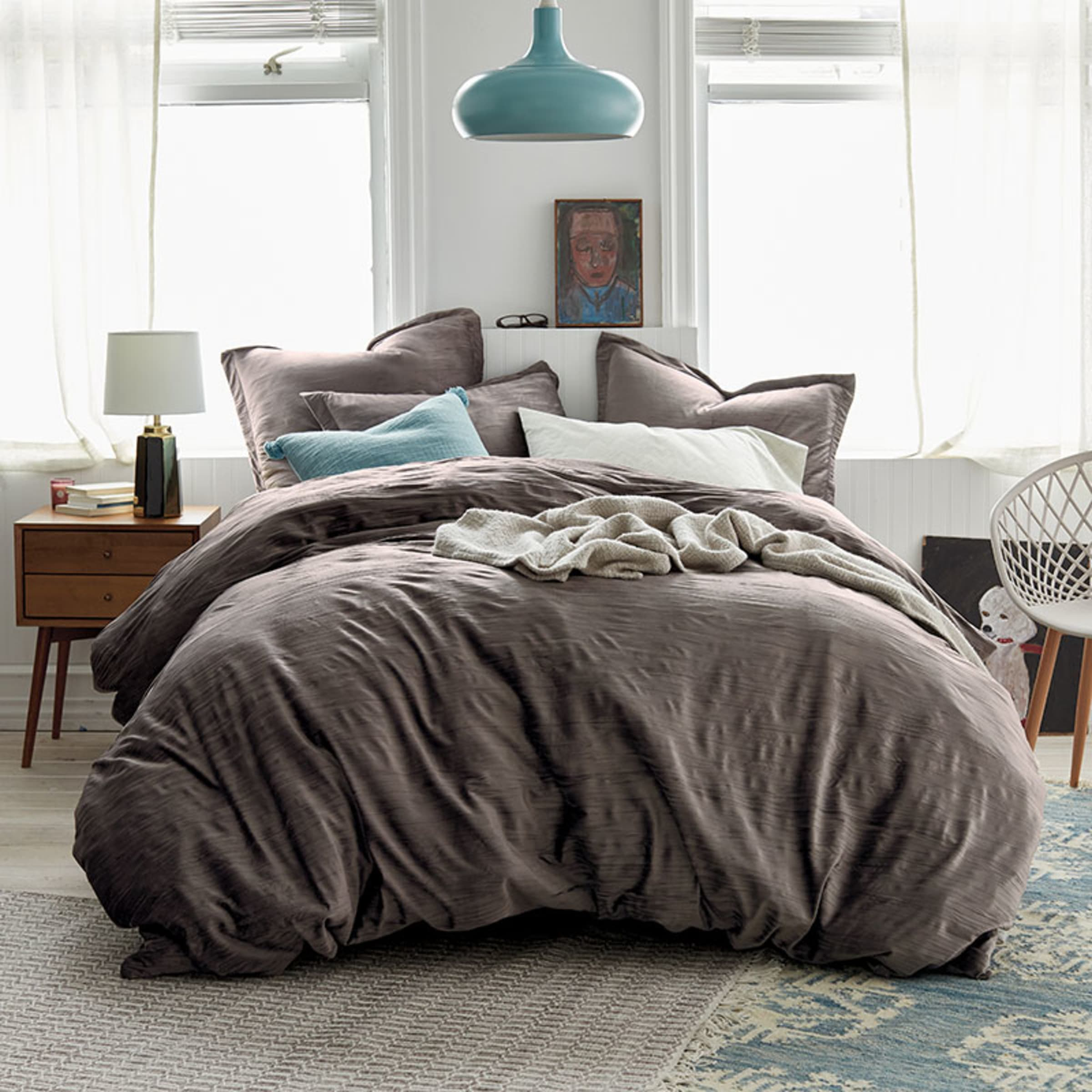 Cstudio Home Easton Crinkled Velvet Duvet Cover