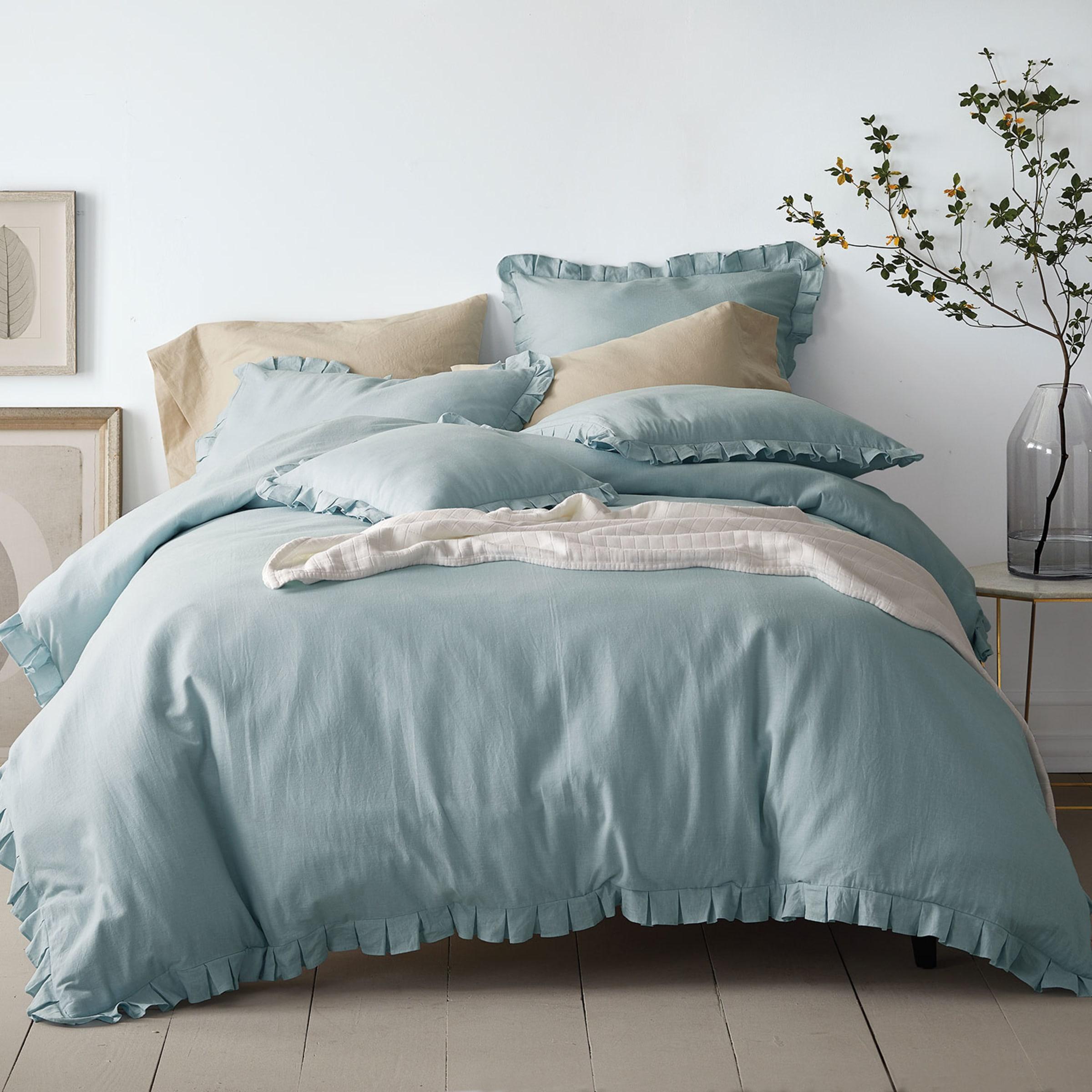 Linen Cotton Blend Duvet Cover Set