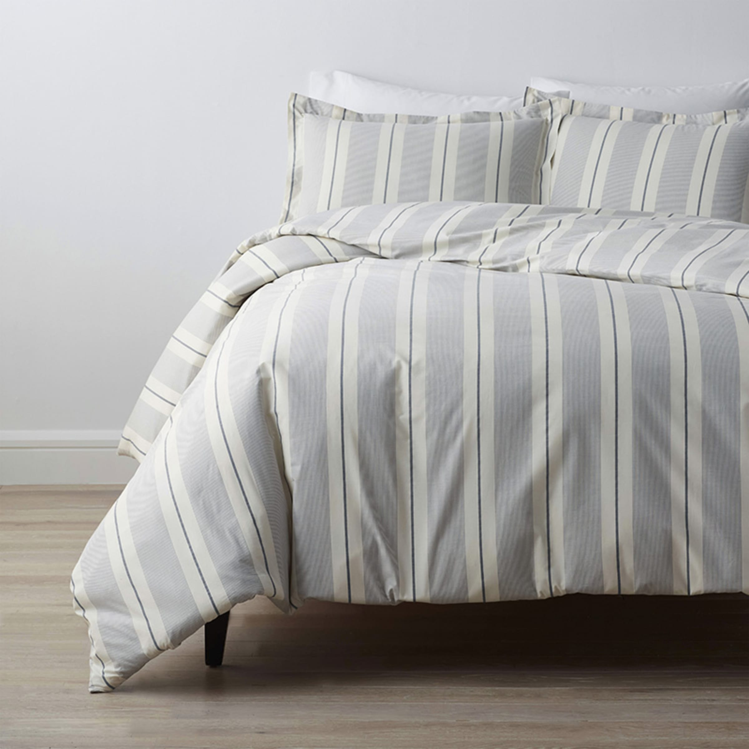 Company Cotton™ Wide Stripe Yarn-Dyed Percale Duvet Cover | The Company Store