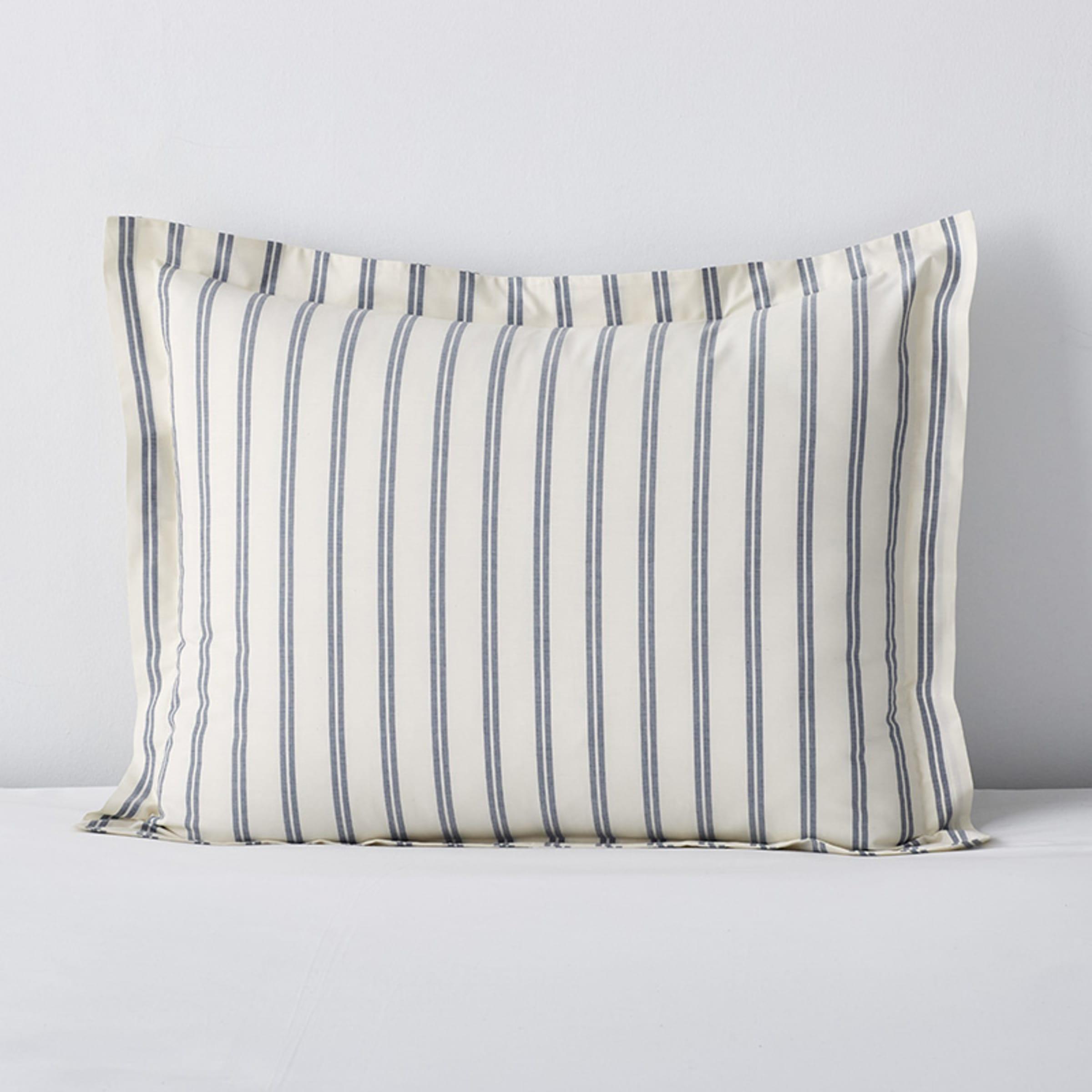 Company Cotton™ Narrow Stripe Yarn-Dyed Percale Sham | The Company Store