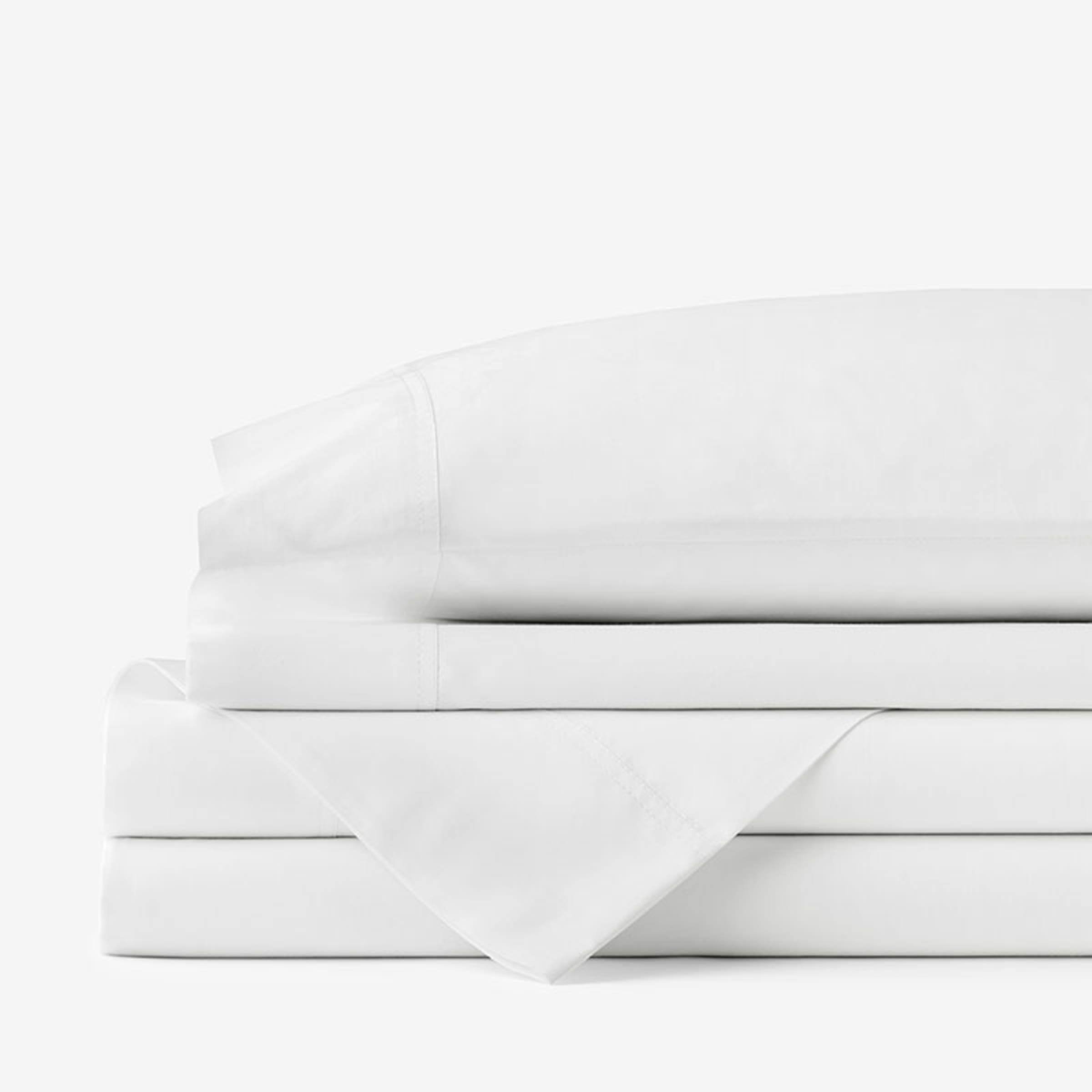 Company Cotton Percale Solid Sheet Set The Company Store