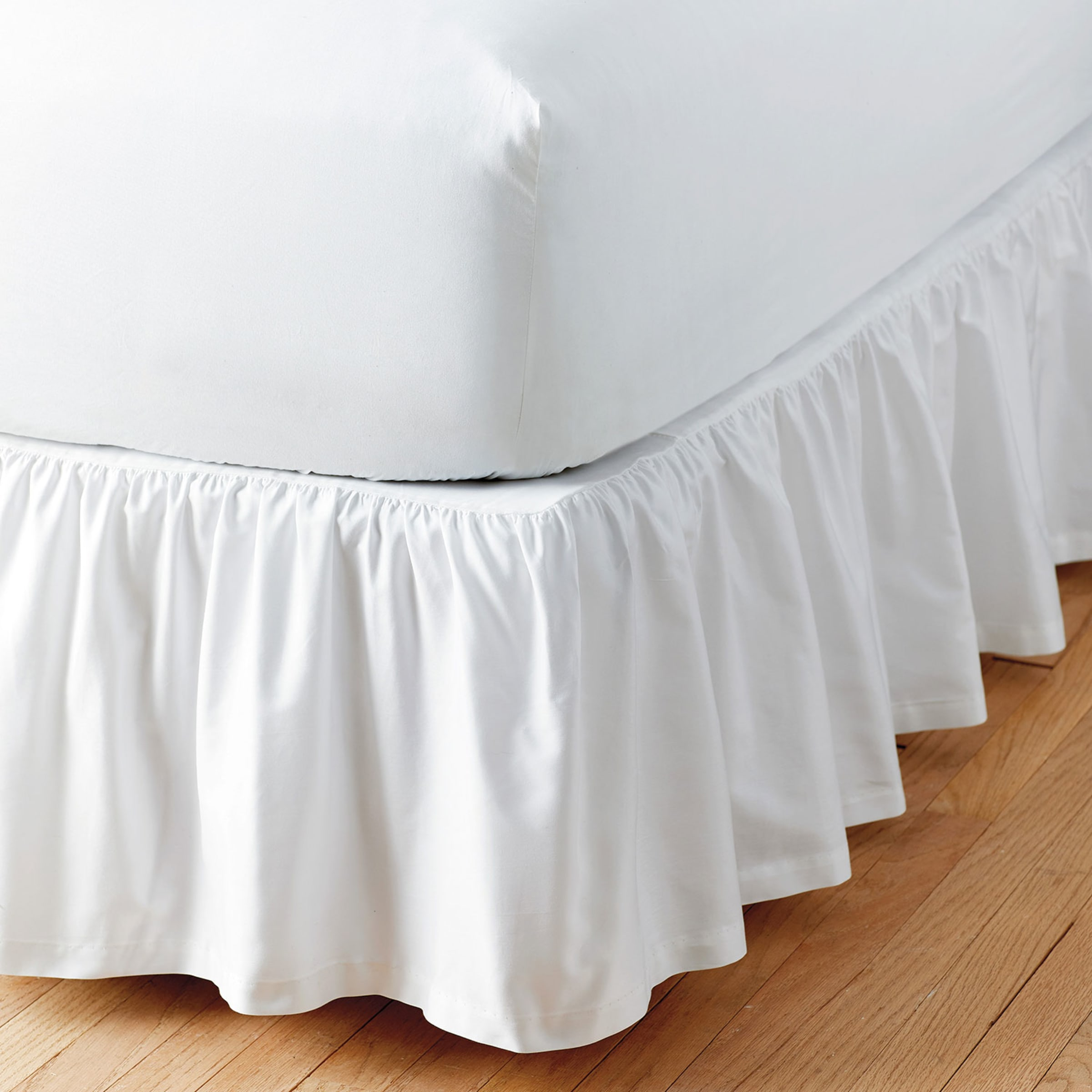 Simple Tuck Gathered Cotton Bed Skirt The Company Store