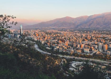 seguro viagem chile - vista aérea de santiago