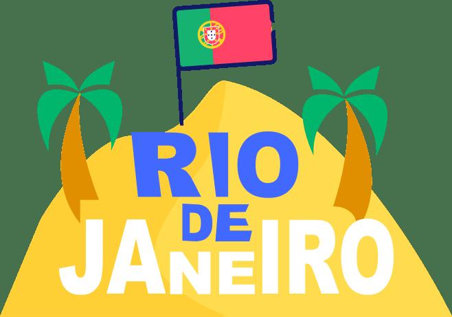 ícone do rio de janeiro com uma bandeira de portugal - seguro viagem nacional