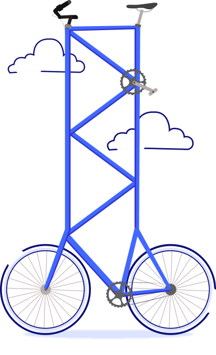 bicicleta bem alta - seguro viagem cuba