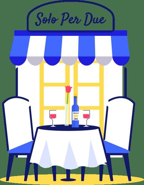 ícone restaurante com duas cadeiras e uma janela ao fundo - seguro viagem Itália