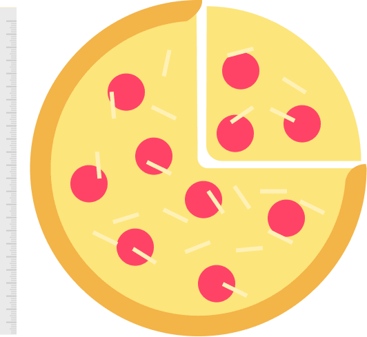 ícone de pizza - seguro viagem estados unidos