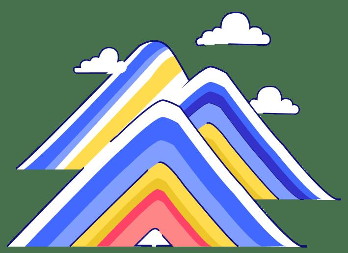 icone de uma montanha com sete cores - seguro viagem peru