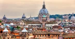 seguro viagem europa - contruções clássicas de roma