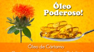 Flor e cápsulas de óleo de cartamo