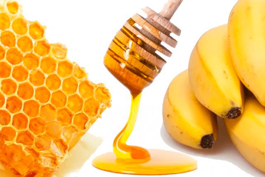 Hidratação com banana e mel