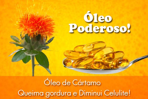 Flor e cápsulas de óleo de cártamo
