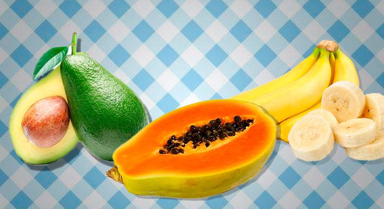Hidratação com Abacate, Mamão e Banana