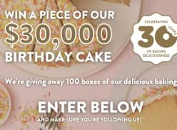 Win 1 of 100 cakes to be given away