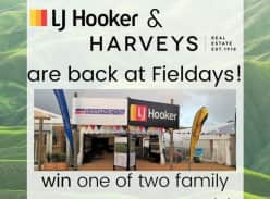 Win 1 of 2 family passes to the Fieldays.