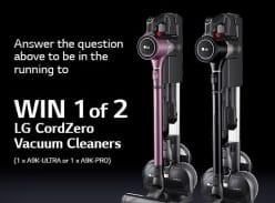 Win 1 of 2 LG CordZero Vacuum Cleaners