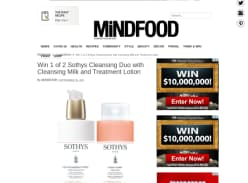 Win 1 of 2 Sothys Cleansing Duo with Cleansing Milk and Treatment Lotion