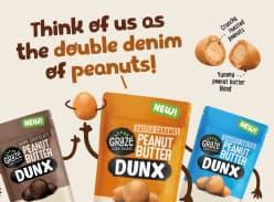 Win 3 packs of new Graze Peanut DUNX