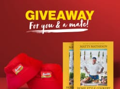 Win Indomie Bucket Hat AND copy of Matty Matheson's Home Style Cookery book