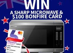 Win Sharp Microwave and a $100 Bonfire Card