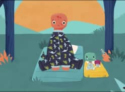 Win Tiny T. Rex and the Very Dark Dark children's book
