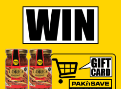 Win two jars of Lorea Anchovies NZ and a $50 PAK'nSAVE Voucher