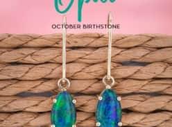 Win a pair of Yellow Gold Opal Hook Earrings