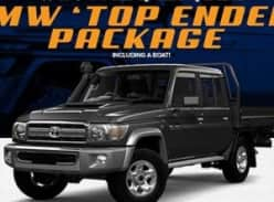 Win a Toyota Landcruiser + Boat & Trailer package!